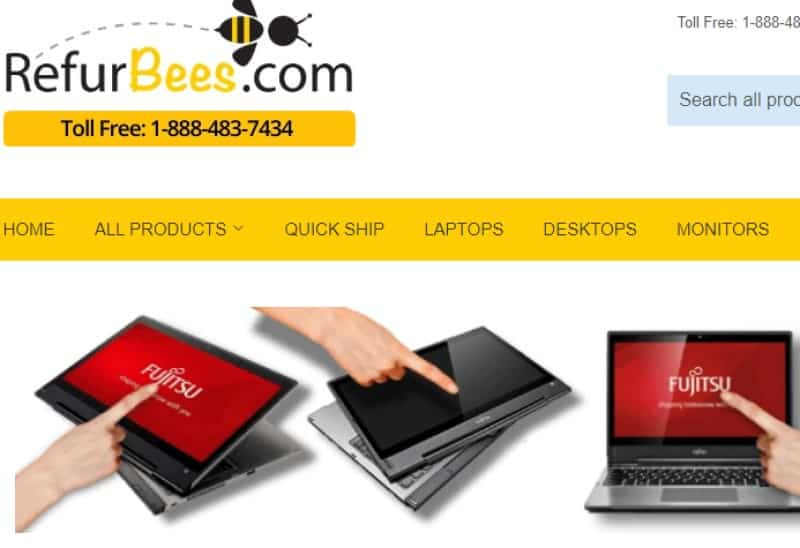 refurbees.com screenshot