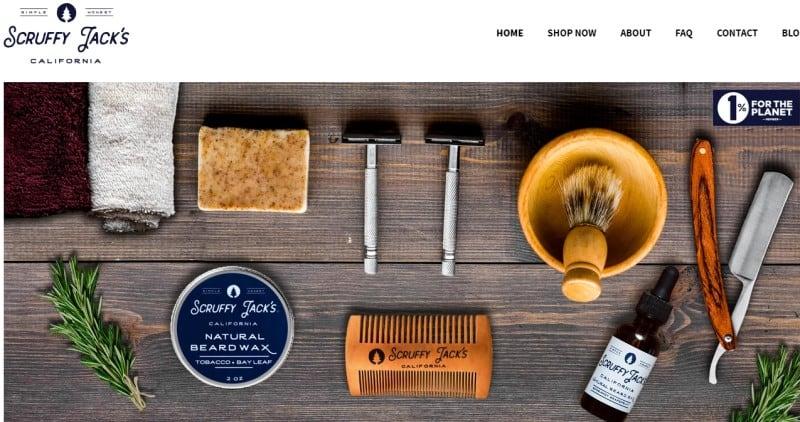screenshot of the scruffy jacks website