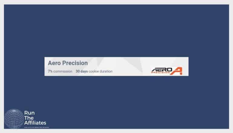 aero precision screenshot set against a dark blue background