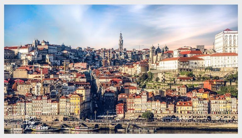 cityscape of portuguese city