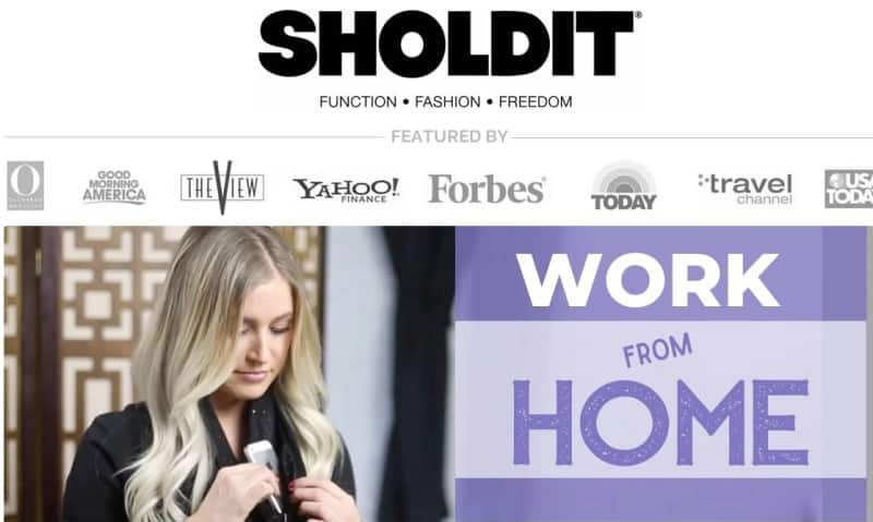 screenshot of the sholdit website