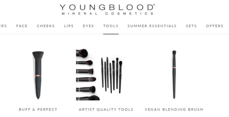 Youngblood Mineral Cosmetics screenshot