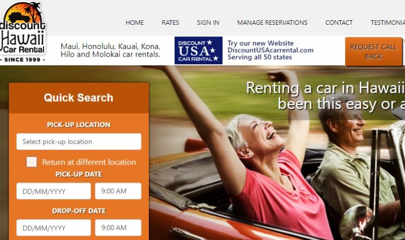 Discount Hawaii Car Rental screenshot