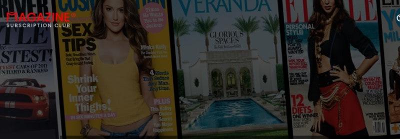 screenshot of the magazine subscription club website