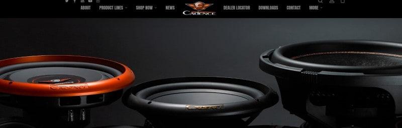 screenshot of the Cadence Sound Inc website