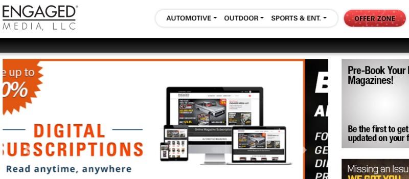 screenshot of the Engaged Media LLC website