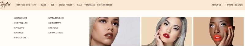 screenshot of the lipbar affiliate program