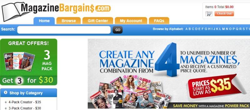 magazine bargain screenshot