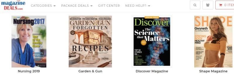 magazine deals screenshot