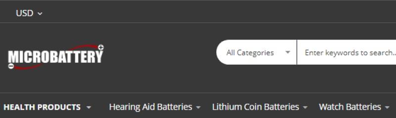 screenshot of microbattery website