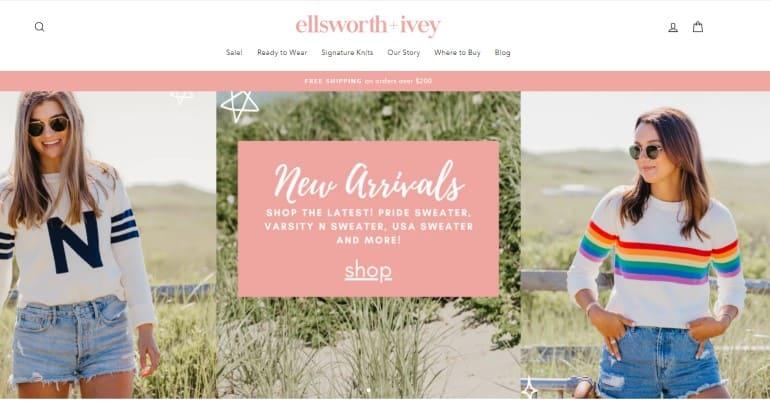 screenshot of the Ellsworth & Ivey website