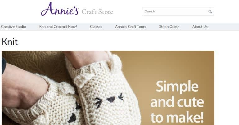 screenshot of the Annie's website