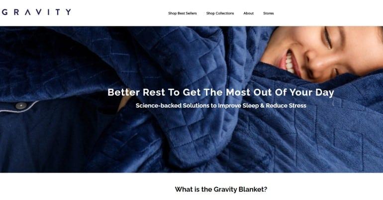 gravity blankets screenshot