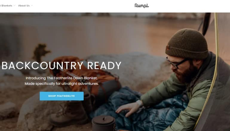 screenshot of the rumpl website