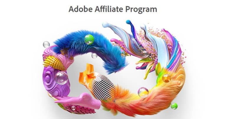 screenshot of the adobe affiliate program website