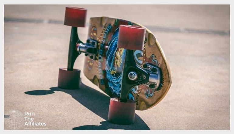skateboard resting on its side