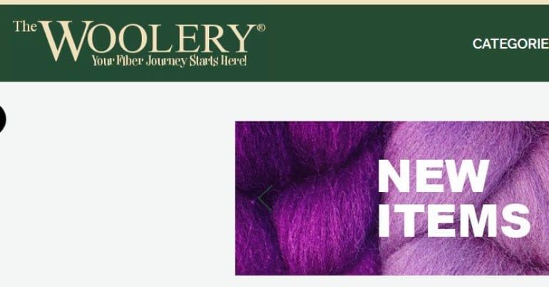 screenshot of the woolery website
