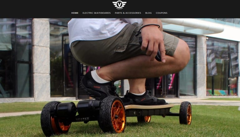 screenshot of the vestarboard website