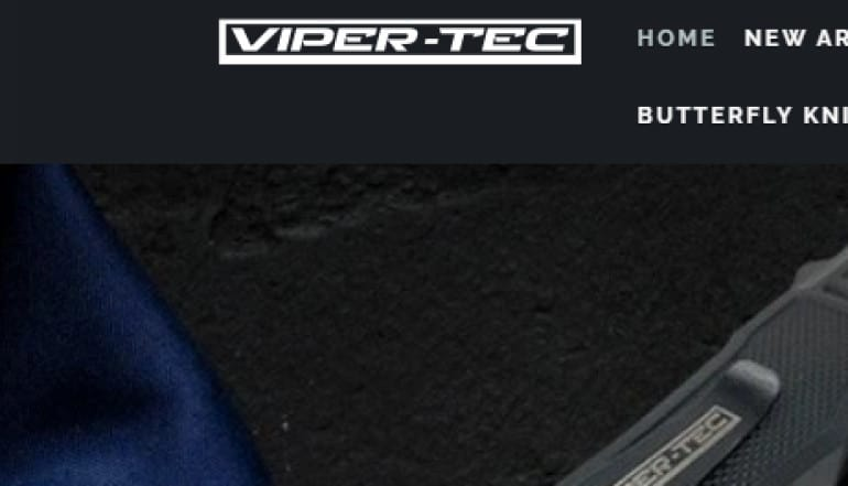 screenshot of the viper-tec website