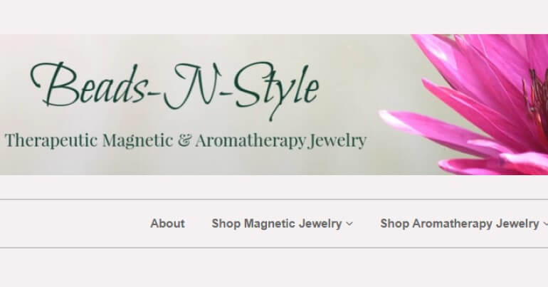 screenshot of the beads n style website
