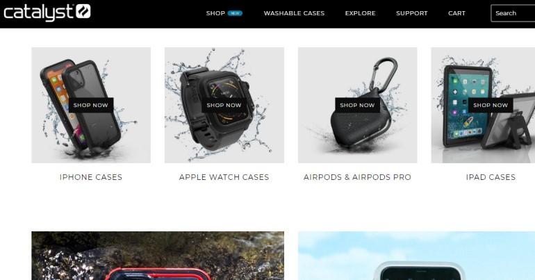 screenshot of the catalyst niche site