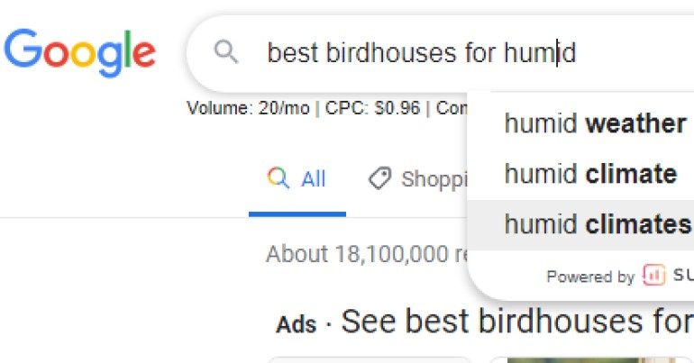 google search results for best birdhouses for humid climates