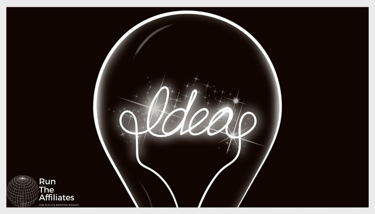 image of a lightbulb with the word IDEAS instead of the filament