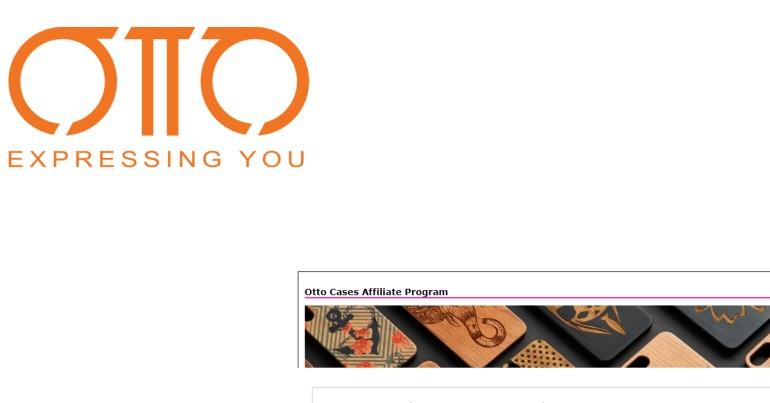 screenshot of the otto affiliate program website