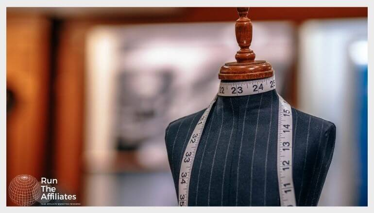clothing tape measure resting on a mannequin