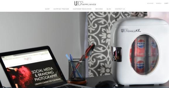 screenshot of the uberappliance website