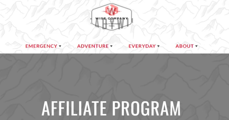screenshot of the readywise affiliate program webpage