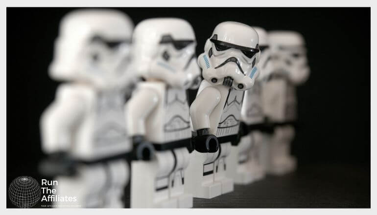 lego star wars stormtroopers standing in a row