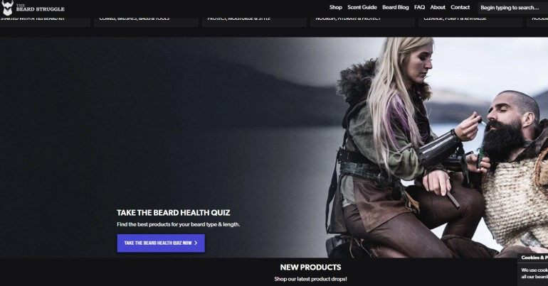 screenshot of the beard struggle affiliate program