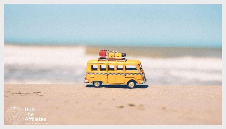 diecast VW bus on the beach