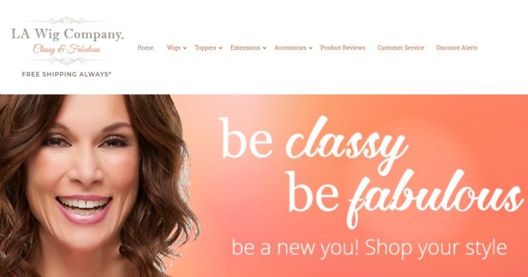 screenshot of the la wig website