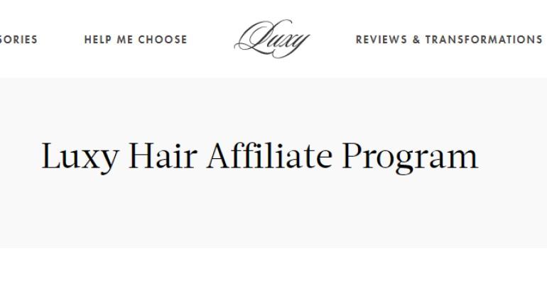 screenshot of the Luxy website