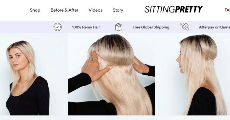 screenshot of the sitting pretty website