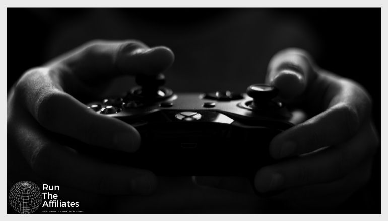 man holding a gaming controller