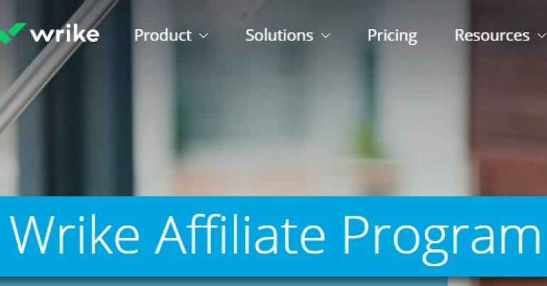 screenshot of the wrike affiliate program webpage