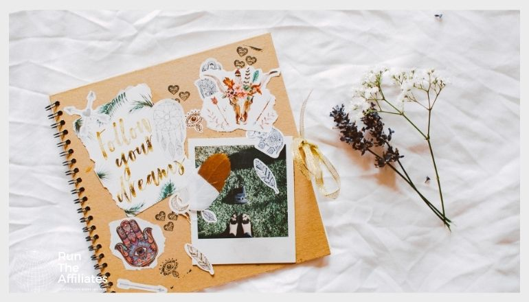 scrapbook on a white background