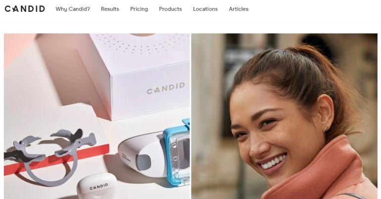 screenshot of the candid website