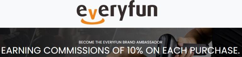 screenshot of the everyfun website