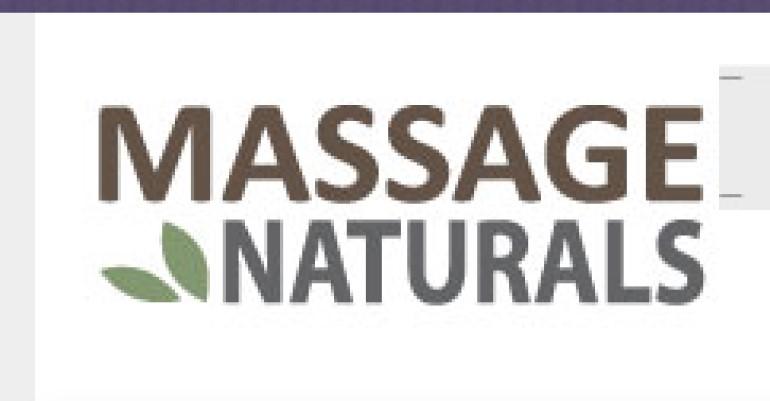 screenshot of the massage naturals website