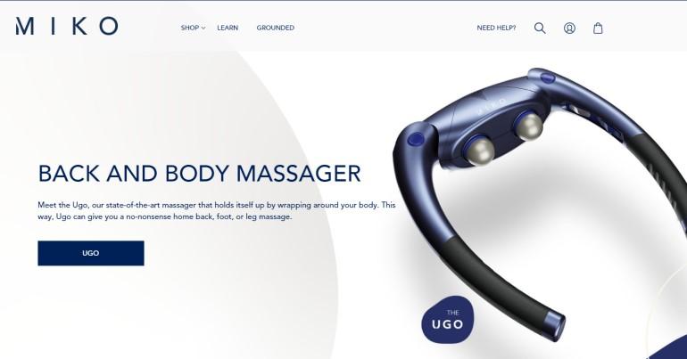 screenshot of the miko website
