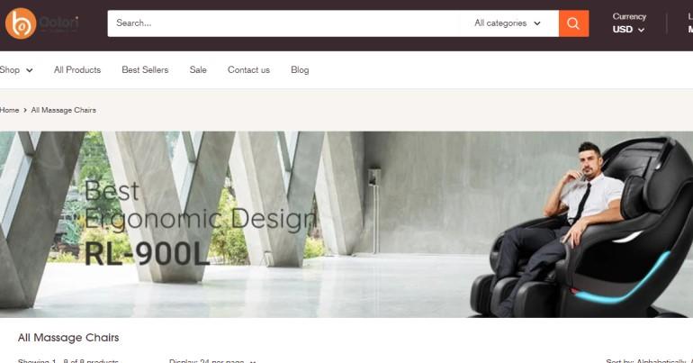 screenshot of the ootori website