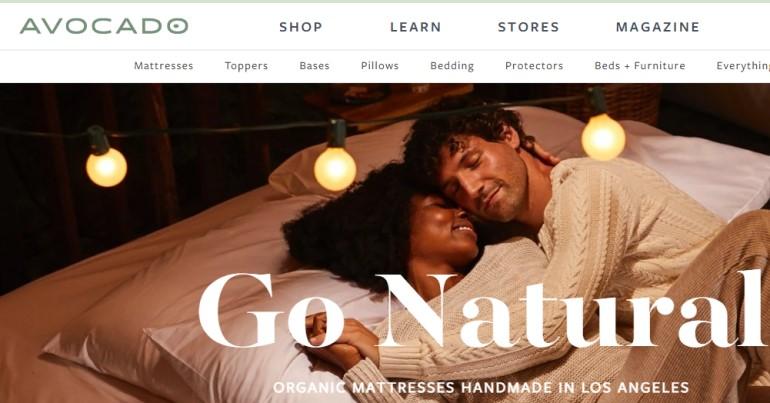 screenshot of the Avocado mattress affiliate program